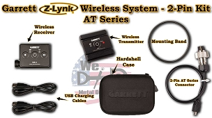 Garrett Z-link Wireless System- 2-Pin headphone Kit for the  AT Series