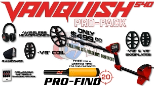 Vanquish 540 Pro-Pack Winter Bundle with FREE Pro-find Pinointer
